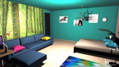 Raumgestaltung Moderner Retro Traum in der Kategorie Schlafzimmer