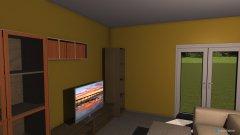 Raumgestaltung Obyvačka + kuchynňa Bungalow 1 in der Kategorie Schlafzimmer