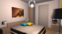 Raumgestaltung Penthouse Rosengarten Gästezimmer in der Kategorie Schlafzimmer
