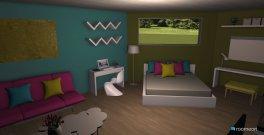 Raumgestaltung PinkGreenBlue Room in der Kategorie Schlafzimmer