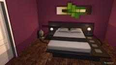Raumgestaltung Red Lotus Schlafzimmer in der Kategorie Schlafzimmer