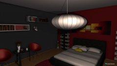 Raumgestaltung Red room in der Kategorie Schlafzimmer