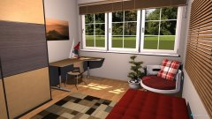 Raumgestaltung Roter Riegel Zimmer 12m2 in der Kategorie Schlafzimmer