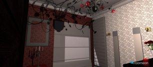 Raumgestaltung rotes Schlafzimmer in der Kategorie Schlafzimmer