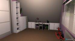 Raumgestaltung Sanne's kamer in der Kategorie Schlafzimmer
