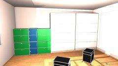 Raumgestaltung Schlaf- und Arbeitszimmergrundidee in der Kategorie Schlafzimmer