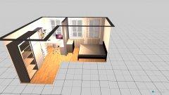 Raumgestaltung Schlaf- und Bürozimmer in der Kategorie Schlafzimmer