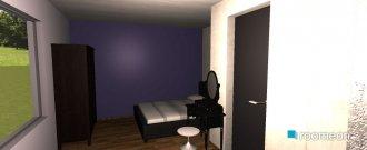 Raumgestaltung Schlaf-Wohnzimmer in der Kategorie Schlafzimmer