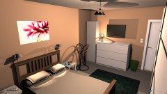 Raumgestaltung Schlafzimmer (im alten Arbeitszimmer) in der Kategorie Schlafzimmer