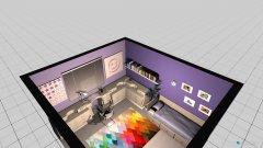 Raumgestaltung schlafzimmer lila in der Kategorie Schlafzimmer