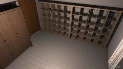 Raumgestaltung Schlafzimmer mit Büro in der Kategorie Schlafzimmer