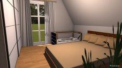 Raumgestaltung Schlafzimmer mit Kinderbett in der Kategorie Schlafzimmer