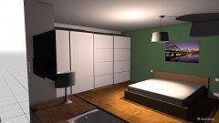Raumgestaltung Schlafzimmer mit Wanne in der Kategorie Schlafzimmer