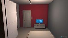 Raumgestaltung Schlafzimmer rot in der Kategorie Schlafzimmer