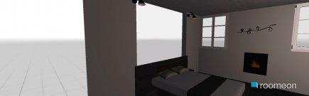 Raumgestaltung Schlafzimmer schwarz & weiß in der Kategorie Schlafzimmer