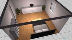 Raumgestaltung soveværelse in der Kategorie Schlafzimmer