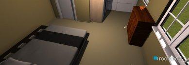 Raumgestaltung spalnia i garderob in der Kategorie Schlafzimmer