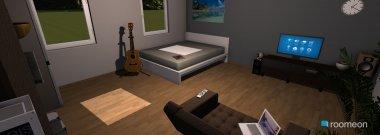 Raumgestaltung Studente Zimmer in der Kategorie Schlafzimmer