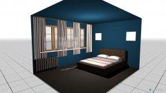 Raumgestaltung sypialnia czarnna in der Kategorie Schlafzimmer