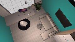 Raumgestaltung sypialnia na turkus in der Kategorie Schlafzimmer