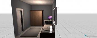 Raumgestaltung tuomaksen huone in der Kategorie Schlafzimmer