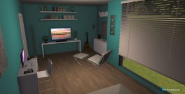 Raumgestaltung Turquoise Room in der Kategorie Schlafzimmer