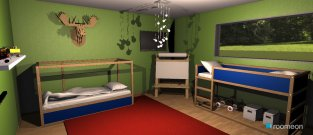 Raumgestaltung Twin Boys Room in der Kategorie Schlafzimmer