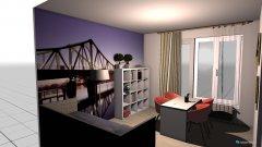 Raumgestaltung vendégszoba in der Kategorie Schlafzimmer