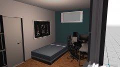 Raumgestaltung Zimmer Josua in der Kategorie Schlafzimmer
