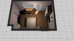Raumgestaltung Zimmer mit Balkon in der Kategorie Schlafzimmer