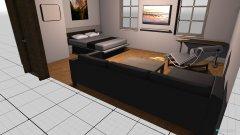 Raumgestaltung Zimmer ohne Schrank in der Kategorie Schlafzimmer
