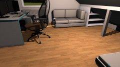 Raumgestaltung Zimmer ren. Schräge Futon in der Kategorie Schlafzimmer