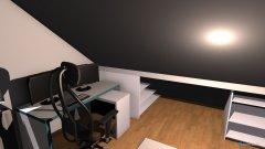 Raumgestaltung Zimmer ren. Schräge mit altem Bett in der Kategorie Schlafzimmer