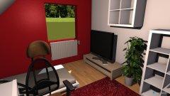 Raumgestaltung zimmer rot 2 in der Kategorie Schlafzimmer