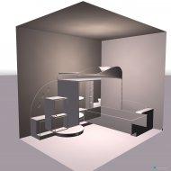 Raumgestaltung ห้องนอนเล็ก in der Kategorie Schlafzimmer