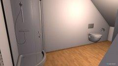Raumgestaltung Bad Dachboden in der Kategorie Toilette
