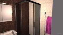 Raumgestaltung Bad mit Dusche in der Kategorie Toilette
