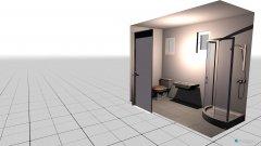 Raumgestaltung BadUnten in der Kategorie Toilette