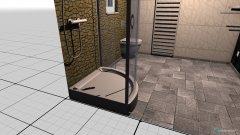 Raumgestaltung Gästebad in der Kategorie Toilette