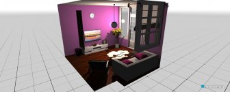 Raumgestaltung ruang tv in der Kategorie Toilette
