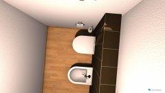 Raumgestaltung WC seitlich in der Kategorie Toilette