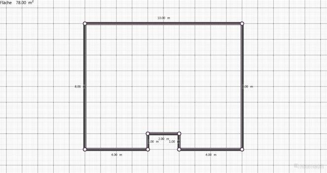 Raumgestaltung Raum 80 qm  in der Kategorie Verkaufsraum