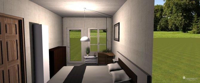 Raumgestaltung 1-Raumwohnung in der Kategorie Wohnzimmer