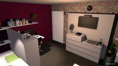 Raumgestaltung 1 Zi.Whg. 17.4 qm 2 in der Kategorie Wohnzimmer