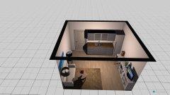 Raumgestaltung 1-Zimmer-Wohnung in der Kategorie Wohnzimmer