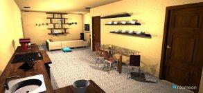 Raumgestaltung 80 sq. m. condo unit in der Kategorie Wohnzimmer