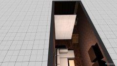 Raumgestaltung 9 m lang, Bett emporgehoben in der Kategorie Wohnzimmer