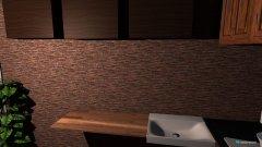Raumgestaltung 9 m lang, Küche+Bad fertig, Wohnzimmer leer in der Kategorie Wohnzimmer