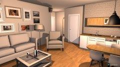 Raumgestaltung A 42m2 dnevna in der Kategorie Wohnzimmer