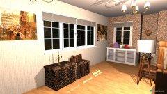 Raumgestaltung Altes gemütliches Wohnzimmer in der Kategorie Wohnzimmer